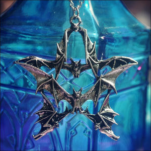Jewelry - Silver Bat Pentagram Necklace